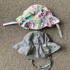 Bundle of two baby sun hats! Like new.